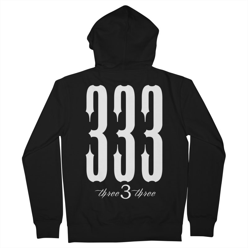 333 White Letters Men's French Terry Zip-Up Hoody by TruthSeekah Clothing