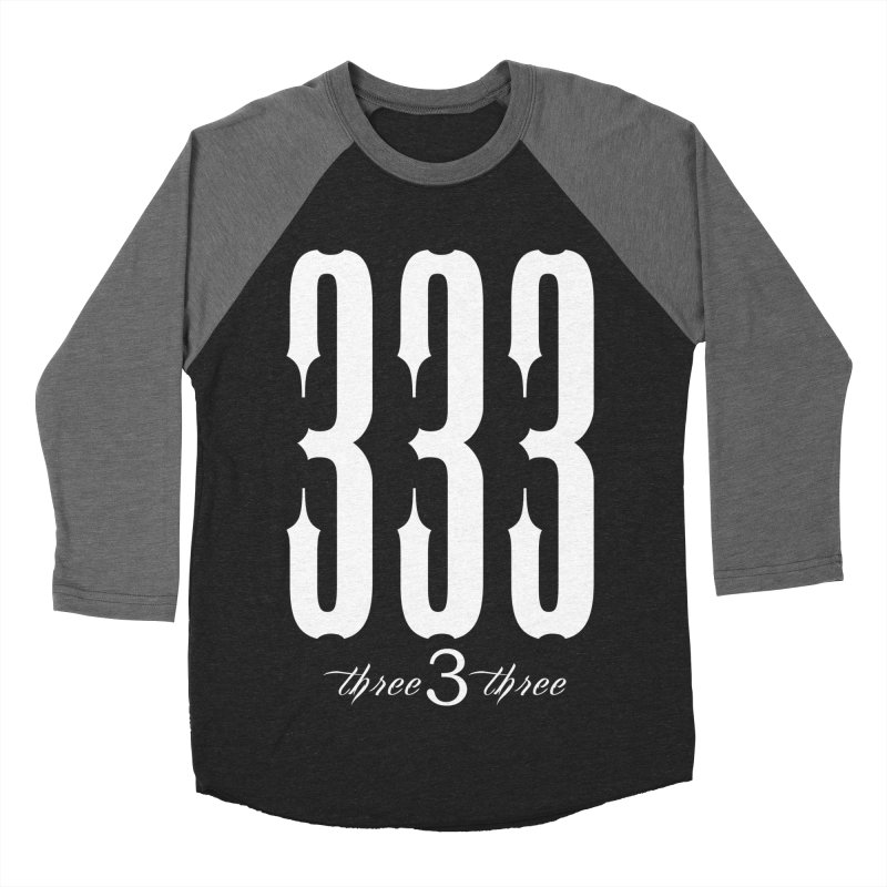 333 White Letters Men's Baseball Triblend Longsleeve T-Shirt by TruthSeekah Clothing