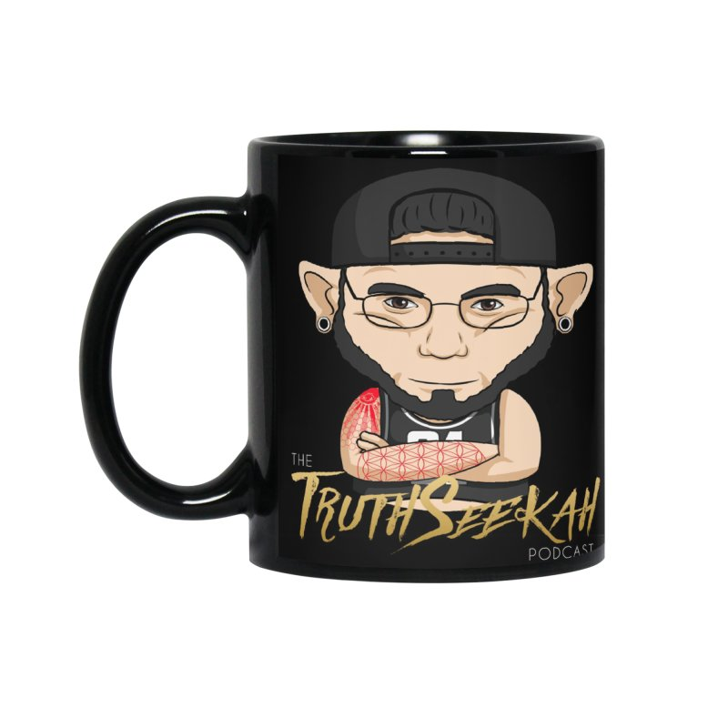TruthSeekah Podcast Mug in Standard Mug Black by TruthSeekah Clothing