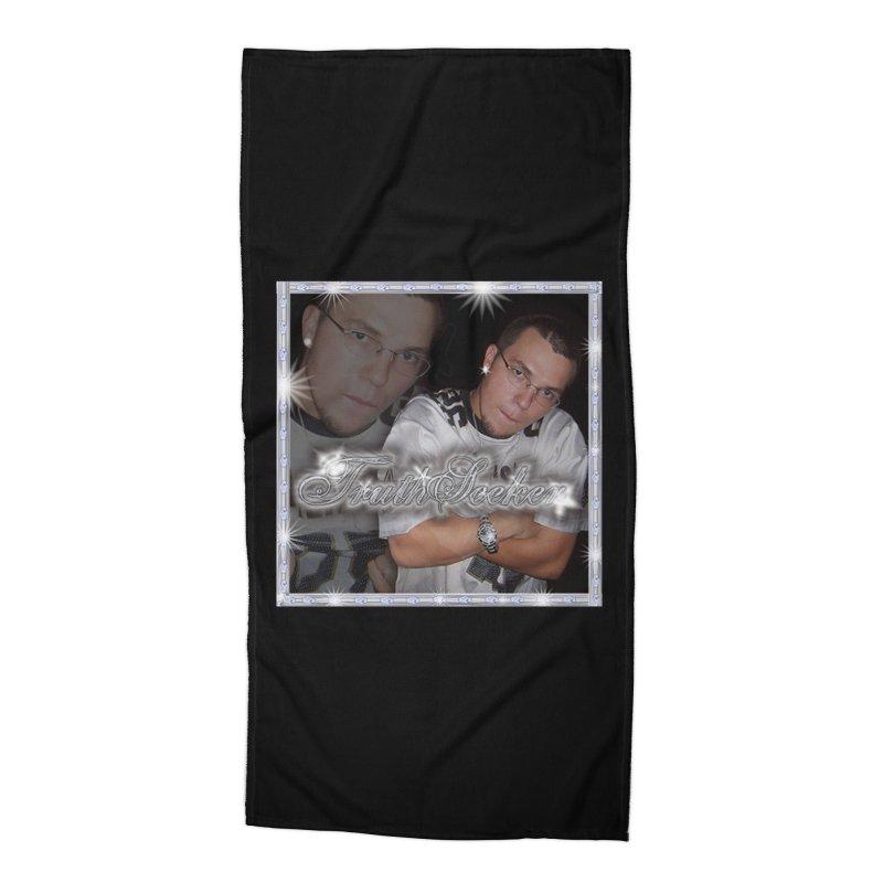 TruthSeekah Retro Rap Tee Accessories Beach Towel by TruthSeekah Clothing