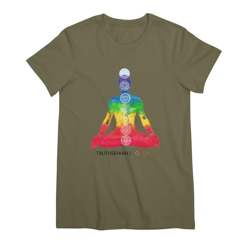 COLORS Chakra Tee Women's Premium T-Shirt by TruthSeekah Clothing
