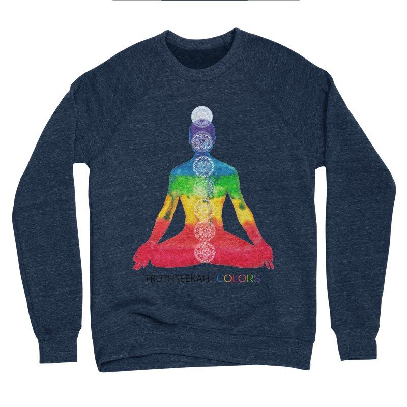 COLORS Chakra Tee Women's Sponge Fleece Sweatshirt by TruthSeekah Clothing