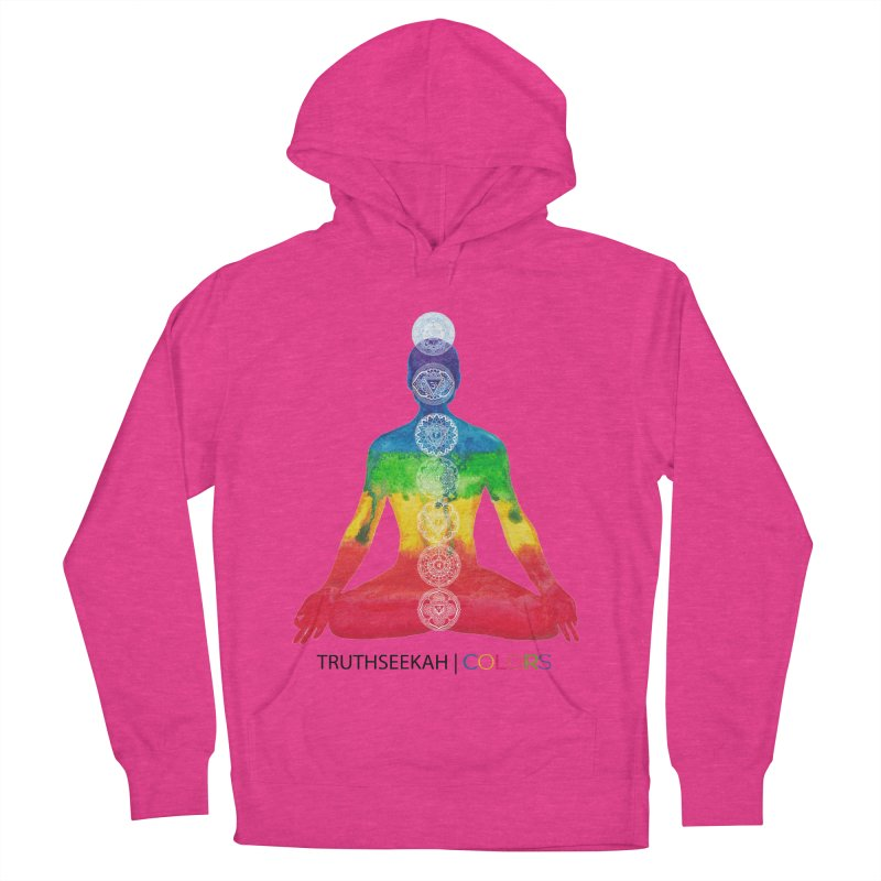 COLORS Chakra Tee Women's French Terry Pullover Hoody by TruthSeekah Clothing