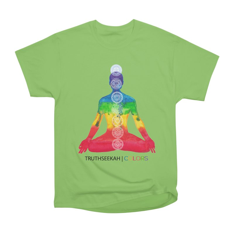 COLORS Chakra Tee Women's Heavyweight Unisex T-Shirt by TruthSeekah Clothing