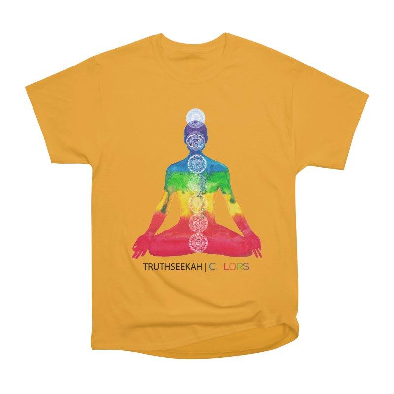 COLORS Chakra Tee Men's Heavyweight T-Shirt by TruthSeekah Clothing