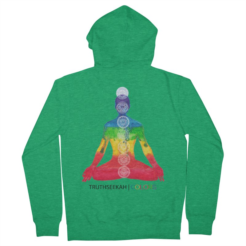 COLORS Chakra Tee Women's French Terry Zip-Up Hoody by TruthSeekah Clothing