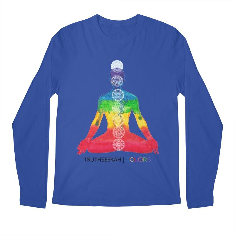 COLORS Chakra Tee Men's Regular Longsleeve T-Shirt by TruthSeekah Clothing