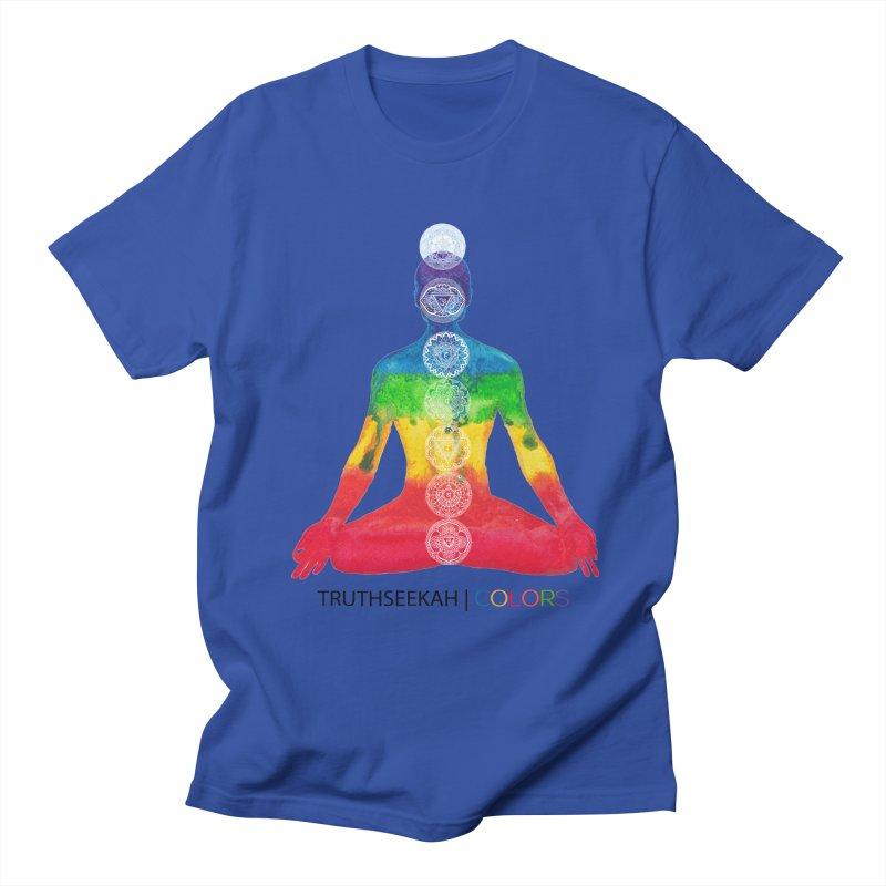 COLORS Chakra Tee Men's Regular T-Shirt by TruthSeekah Clothing