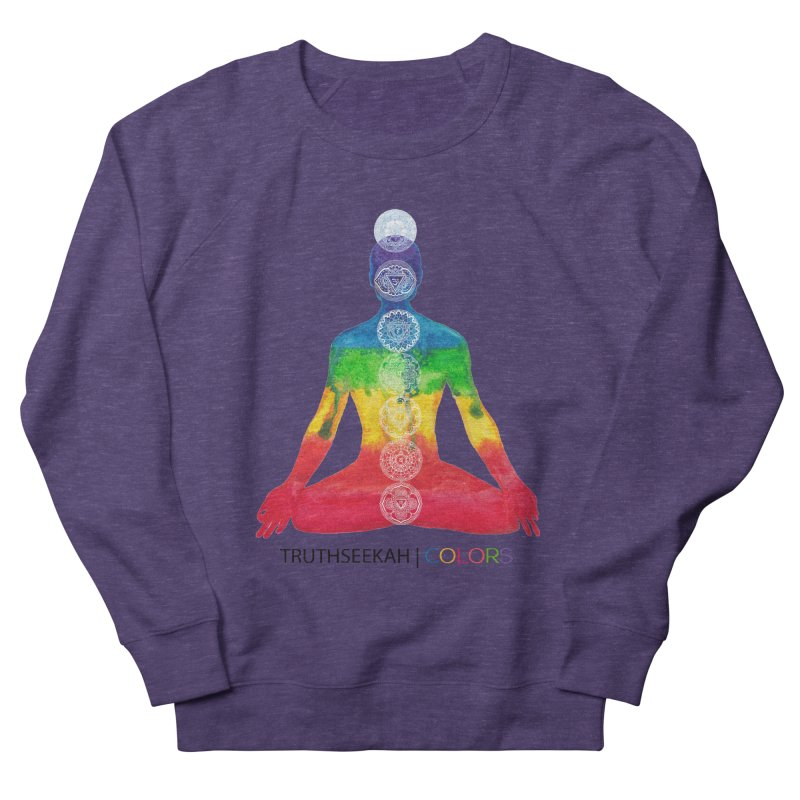 COLORS Chakra Tee Women's French Terry Sweatshirt by TruthSeekah Clothing