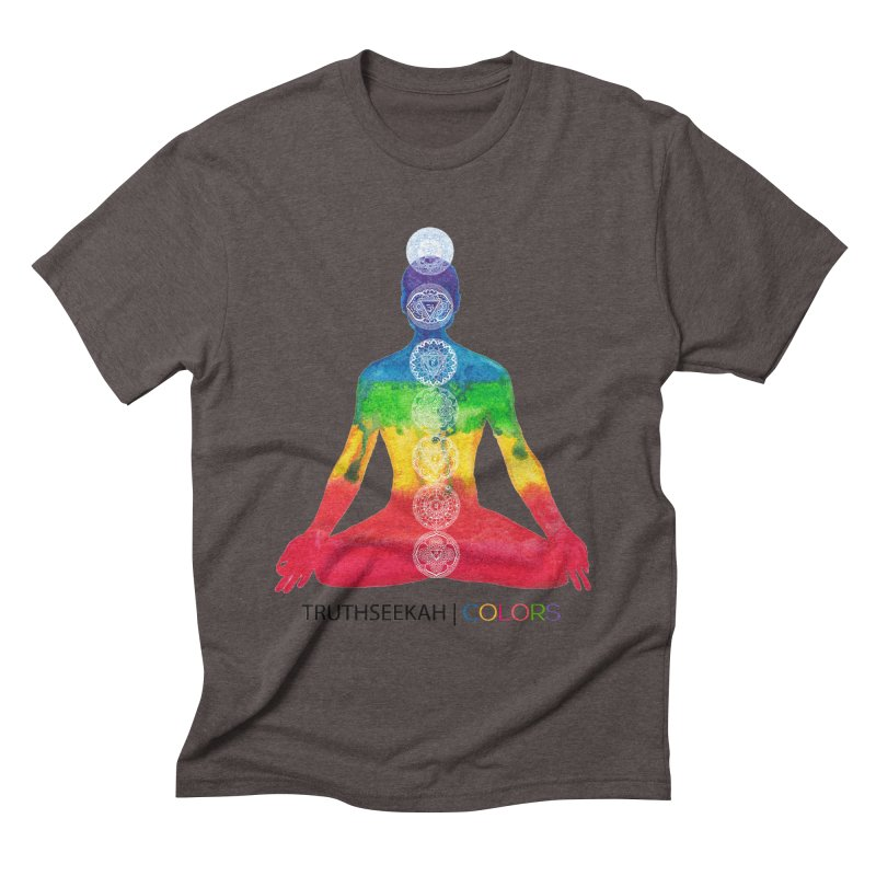 COLORS Chakra Tee Men's Triblend T-Shirt by TruthSeekah Clothing