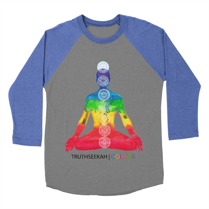 COLORS Chakra Tee Women's Baseball Triblend Longsleeve T-Shirt by TruthSeekah Clothing