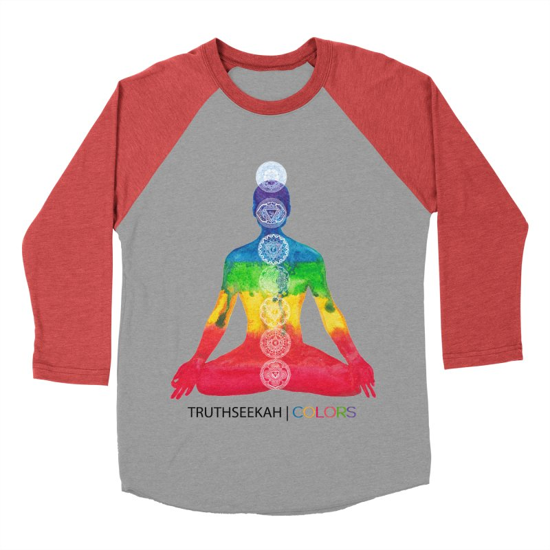 COLORS Chakra Tee Men's Baseball Triblend Longsleeve T-Shirt by TruthSeekah Clothing