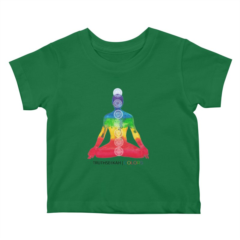 COLORS Chakra Tee Kids Baby T-Shirt by TruthSeekah Clothing