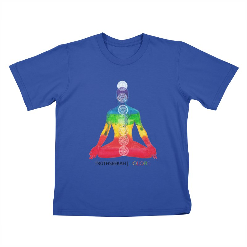 COLORS Chakra Tee Kids T-Shirt by TruthSeekah Clothing