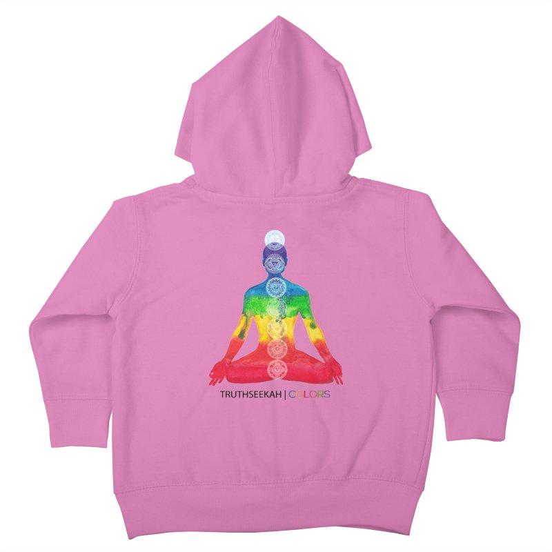 COLORS Chakra Tee Kids Toddler Zip-Up Hoody by TruthSeekah Clothing