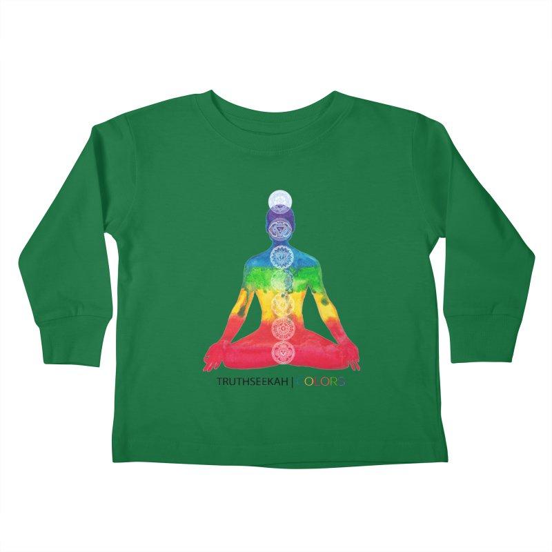 COLORS Chakra Tee Kids Toddler Longsleeve T-Shirt by TruthSeekah Clothing