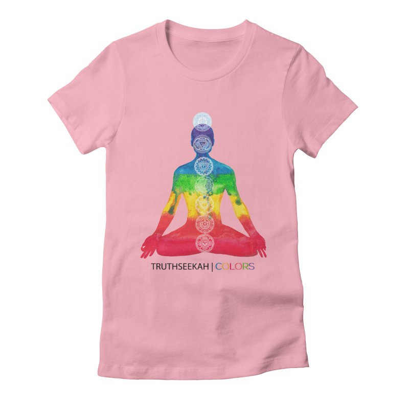 COLORS Chakra Tee Women's Fitted T-Shirt by TruthSeekah Clothing