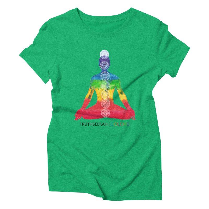 COLORS Chakra Tee Women's Triblend T-Shirt by TruthSeekah Clothing