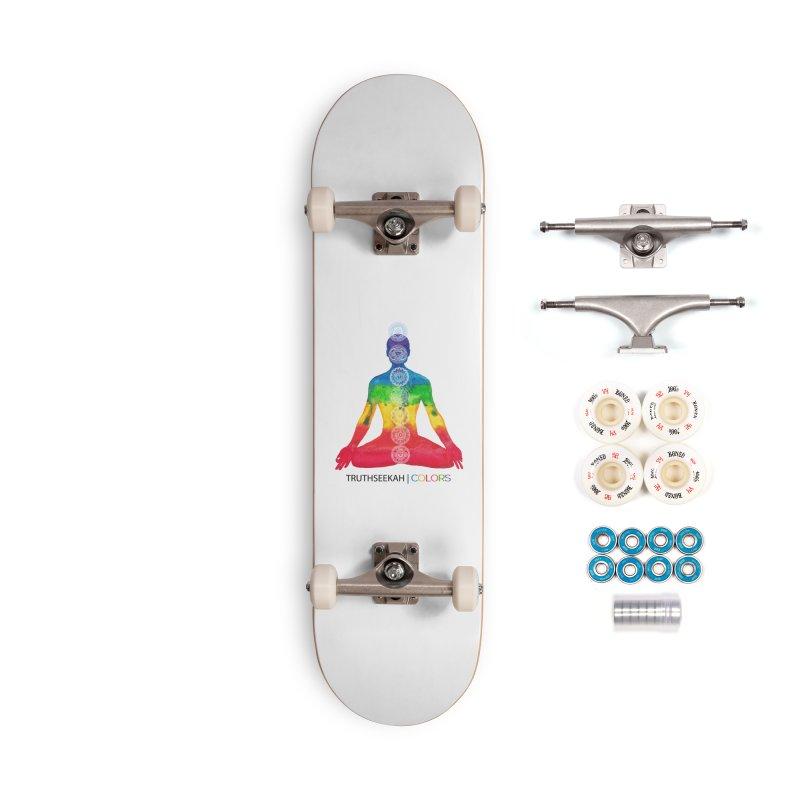 COLORS Chakra Tee Accessories Complete - Premium Skateboard by TruthSeekah Clothing