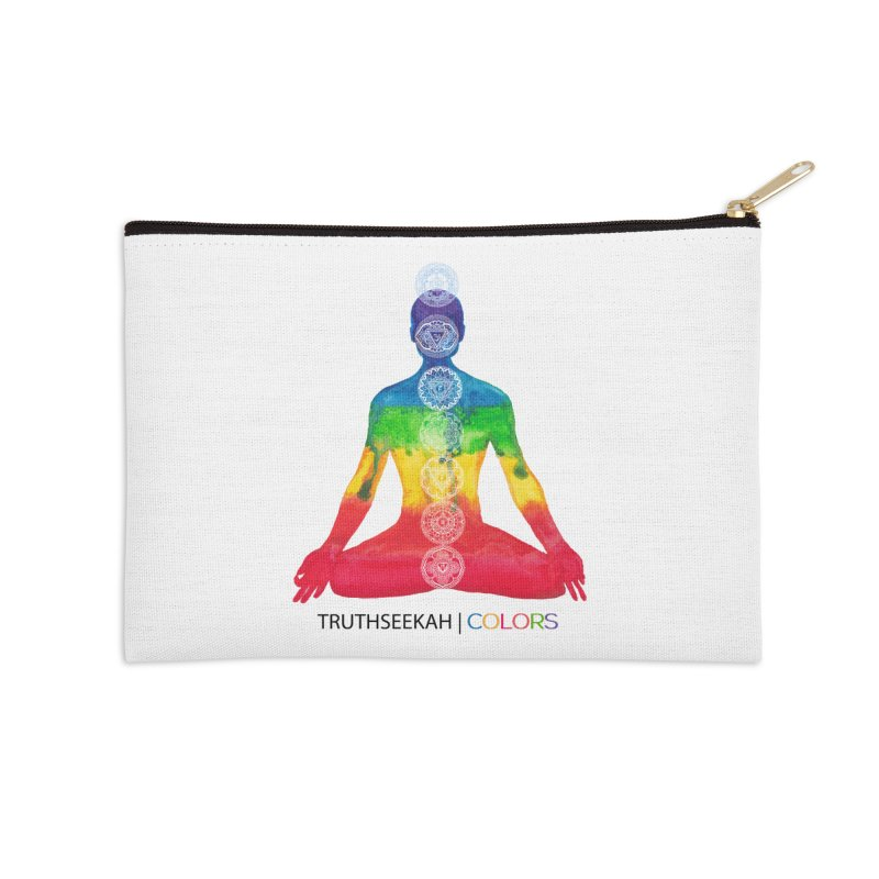 COLORS Chakra Tee Accessories Zip Pouch by TruthSeekah Clothing