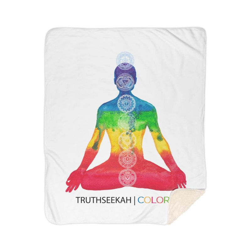 COLORS Chakra Tee Home Sherpa Blanket Blanket by TruthSeekah Clothing