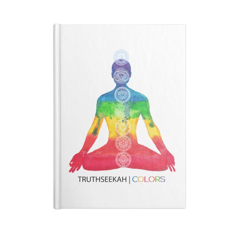 COLORS Chakra Tee Accessories Lined Journal Notebook by TruthSeekah Clothing