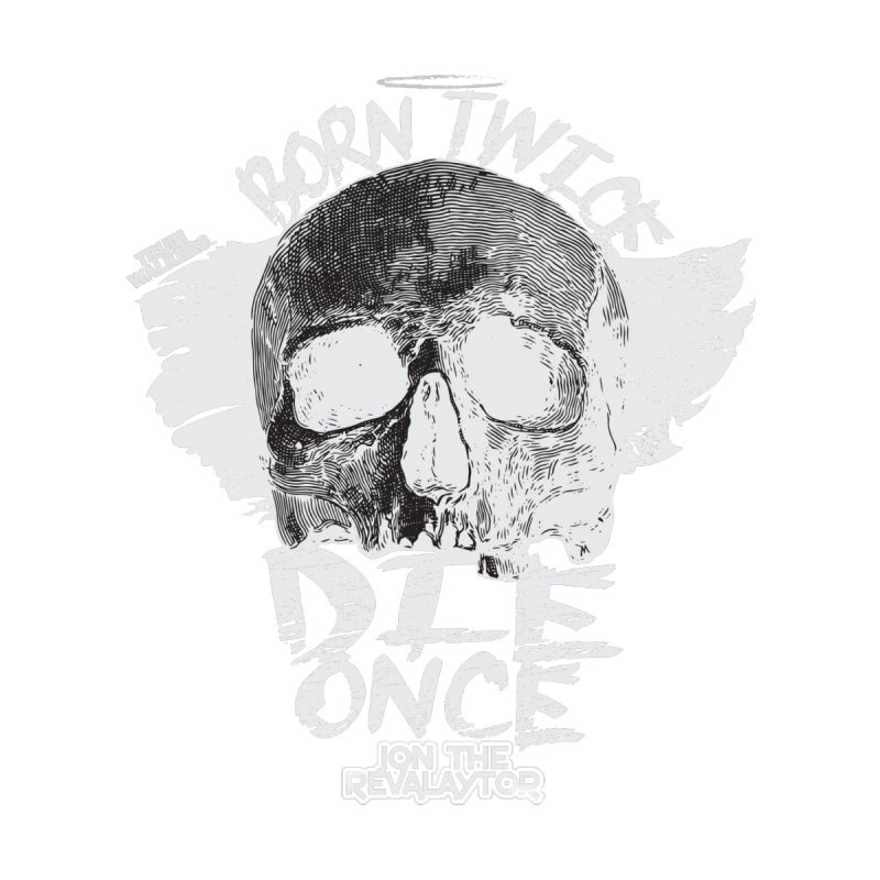 BORN TWICE, DIE ONCE BLACKOUT COLLECTION Men's Zip-Up Hoody by truthwalkers's Artist Shop