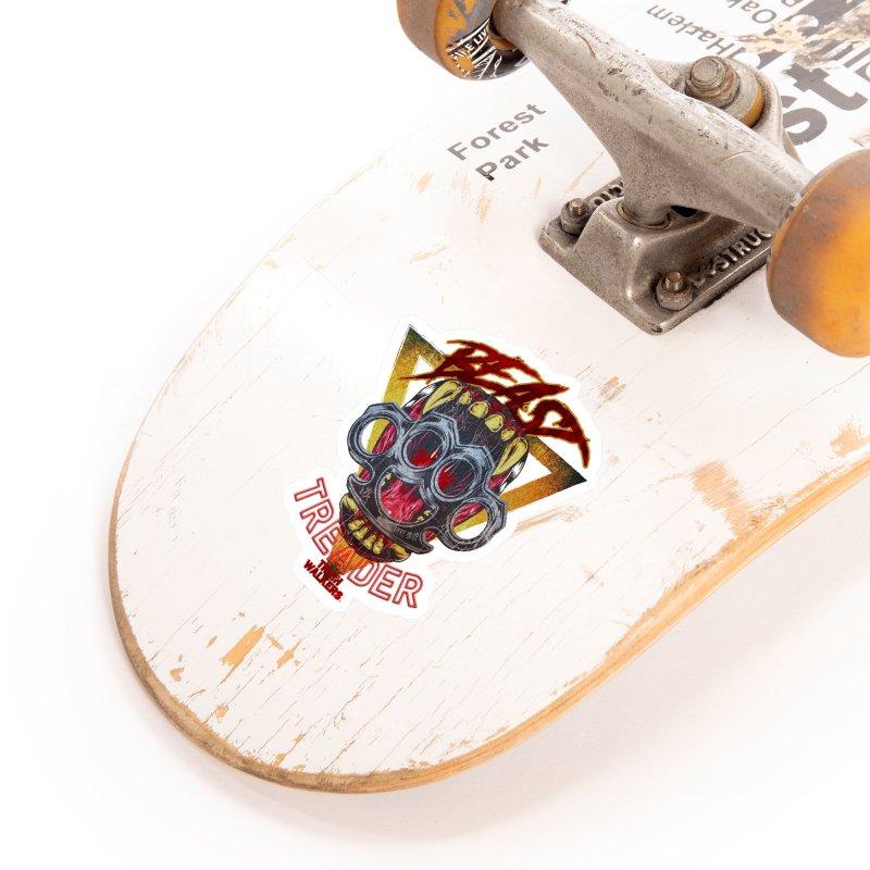 BEAST TREADER Accessories Sticker by truthwalkers's Artist Shop