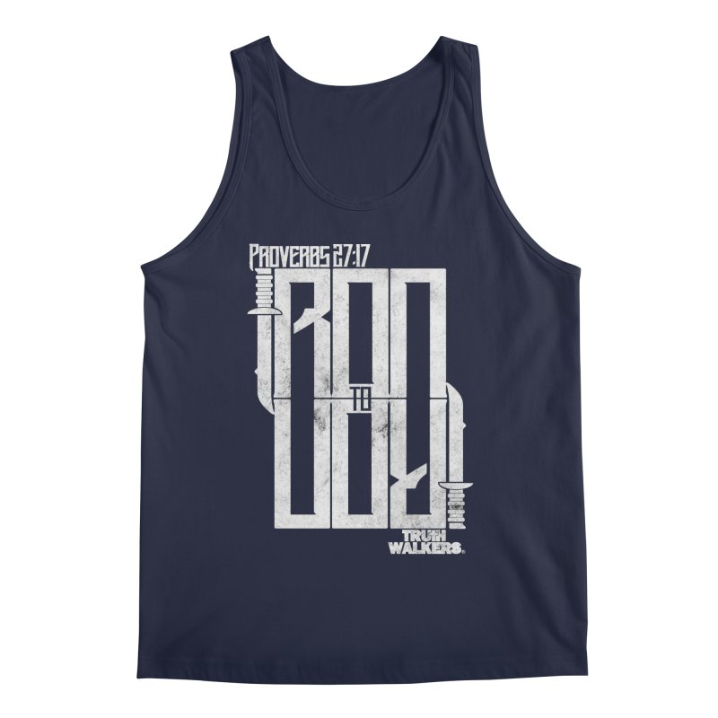 IRON TO IRON Men's Tank by truthwalkers's Artist Shop