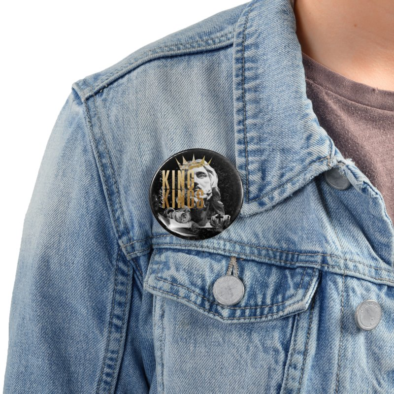 King of kings Bust Accessories Button by truthwalkers's Artist Shop
