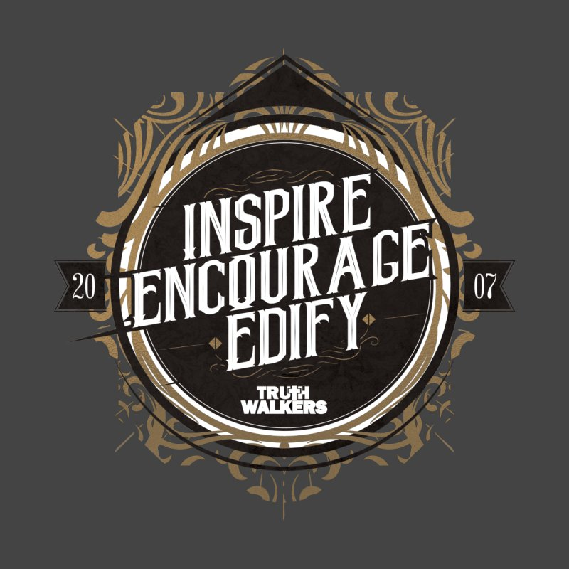 Inspire Encourage Edify Badge Accessories Mug by truthwalkers's Artist Shop
