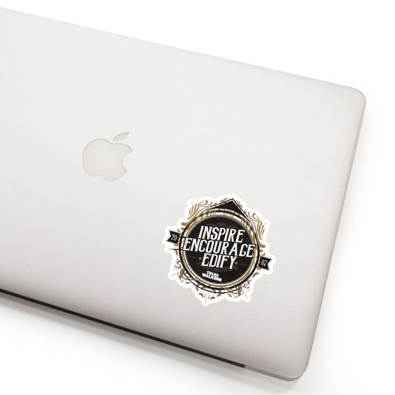 Inspire Encourage Edify Badge Accessories Sticker by truthwalkers's Artist Shop