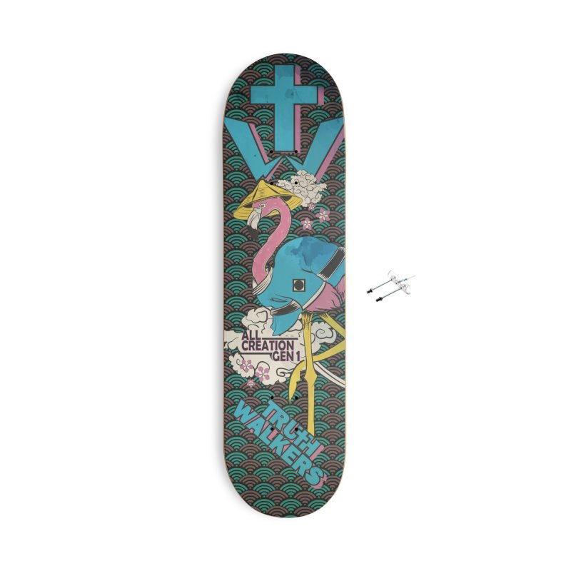Flamingo Gen 1 Accessories Skateboard by truthwalkers's Artist Shop