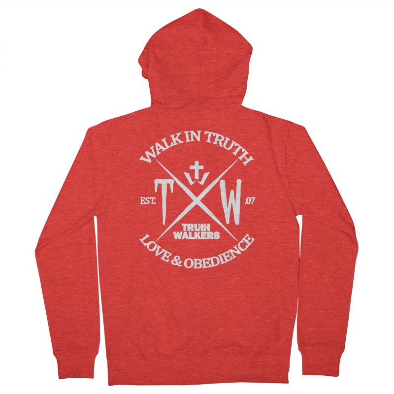 TW Badge White Men's Zip-Up Hoody by truthwalkers's Artist Shop