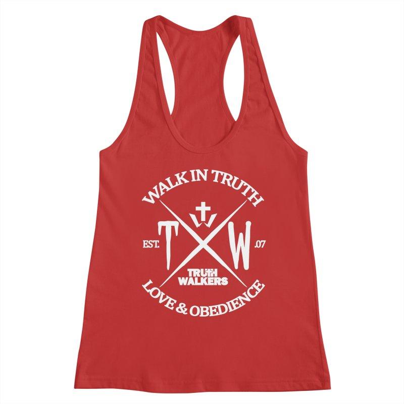 TW Badge White Women's Tank by truthwalkers's Artist Shop