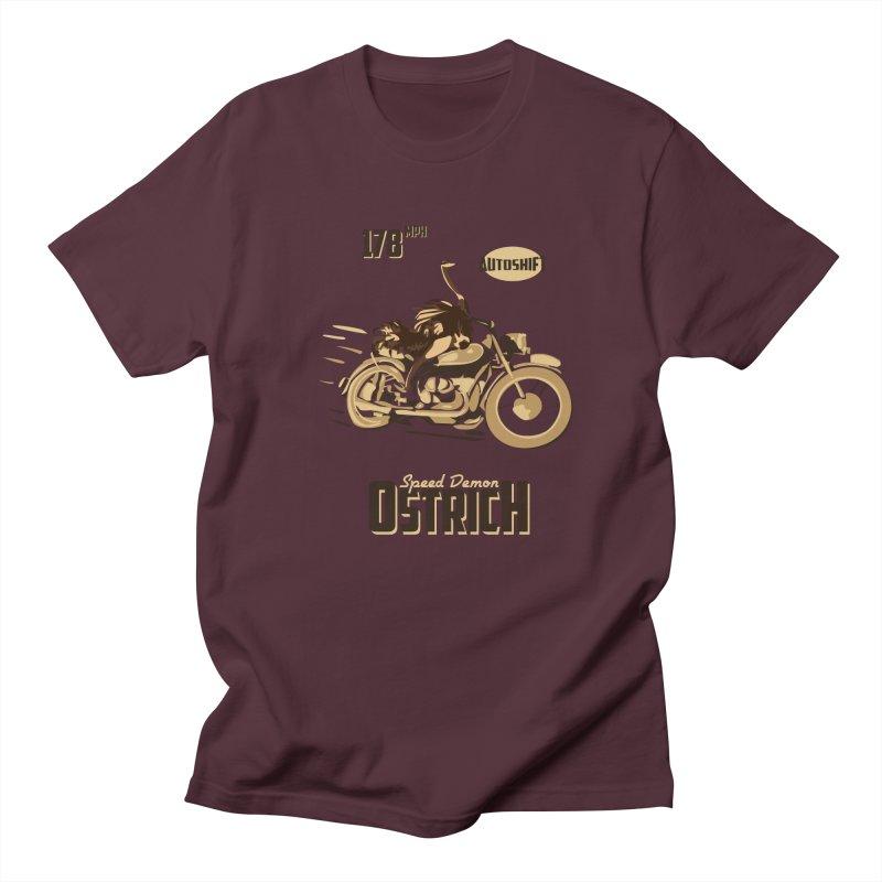 Speed Demon Ostrich Women's Unisex T-Shirt by Trybyk Art