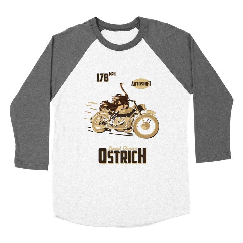Speed Demon Ostrich Women's Baseball Triblend T-Shirt by Trybyk Art