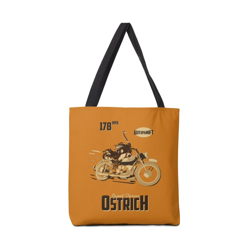 Speed Demon Ostrich Accessories Bag by Trybyk Art