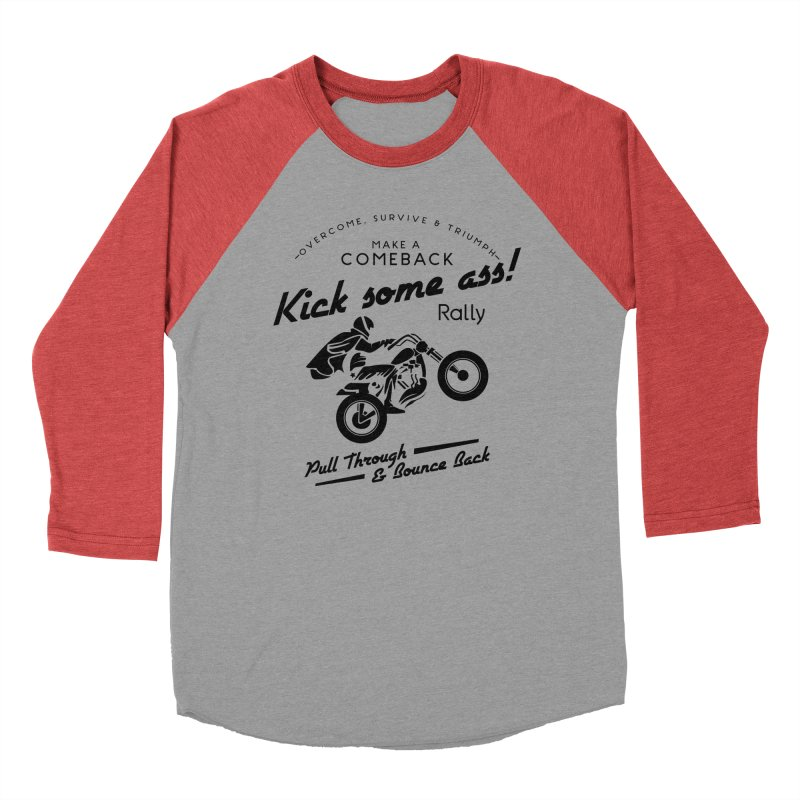 Kick Some Ass ! Men's Baseball Triblend T-Shirt by Trybyk Art