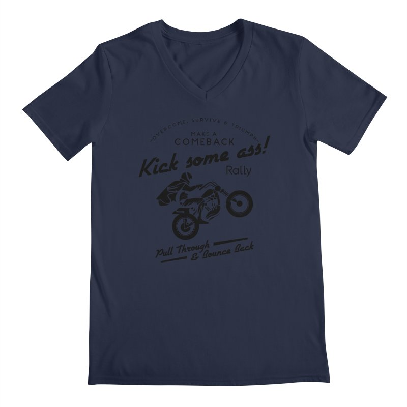 Kick Some Ass ! Men's V-Neck by Trybyk Art