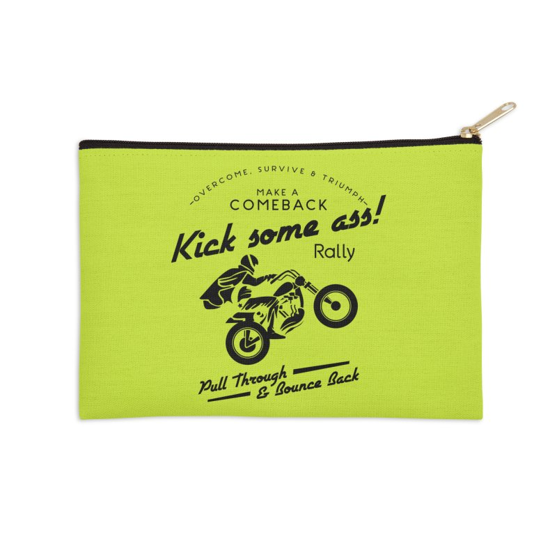 Kick Some Ass ! Accessories Zip Pouch by Trybyk Art