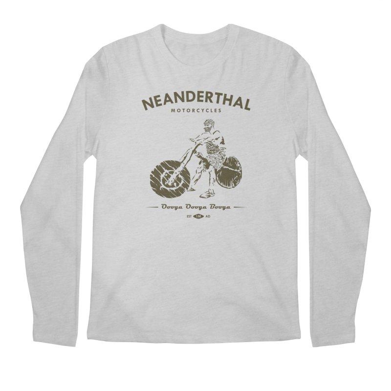 Neanderthal Motors Men's Longsleeve T-Shirt by Trybyk Art