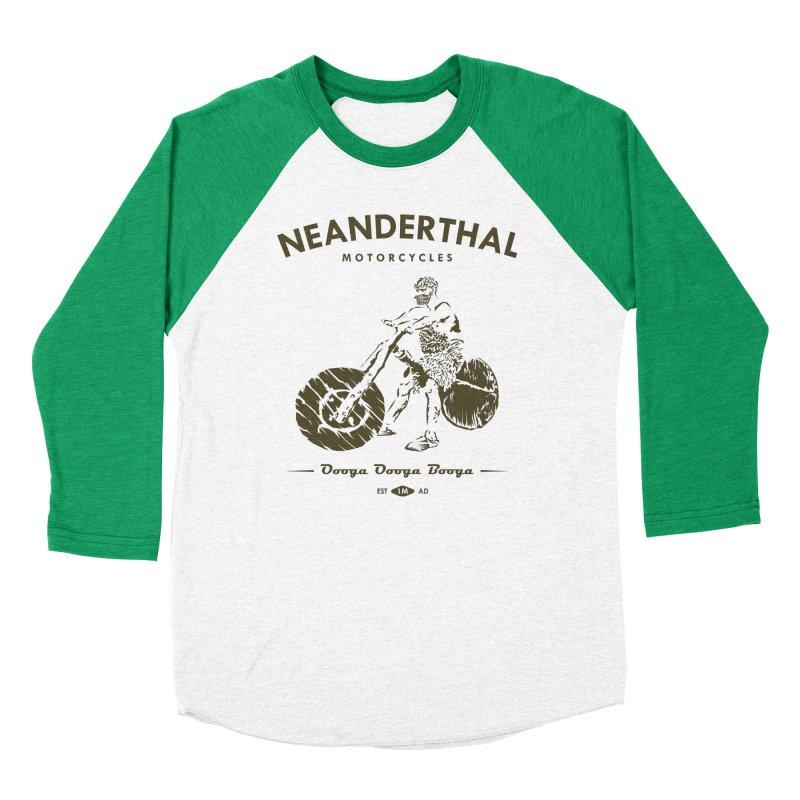 Neanderthal Motors Men's Baseball Triblend T-Shirt by Trybyk Art