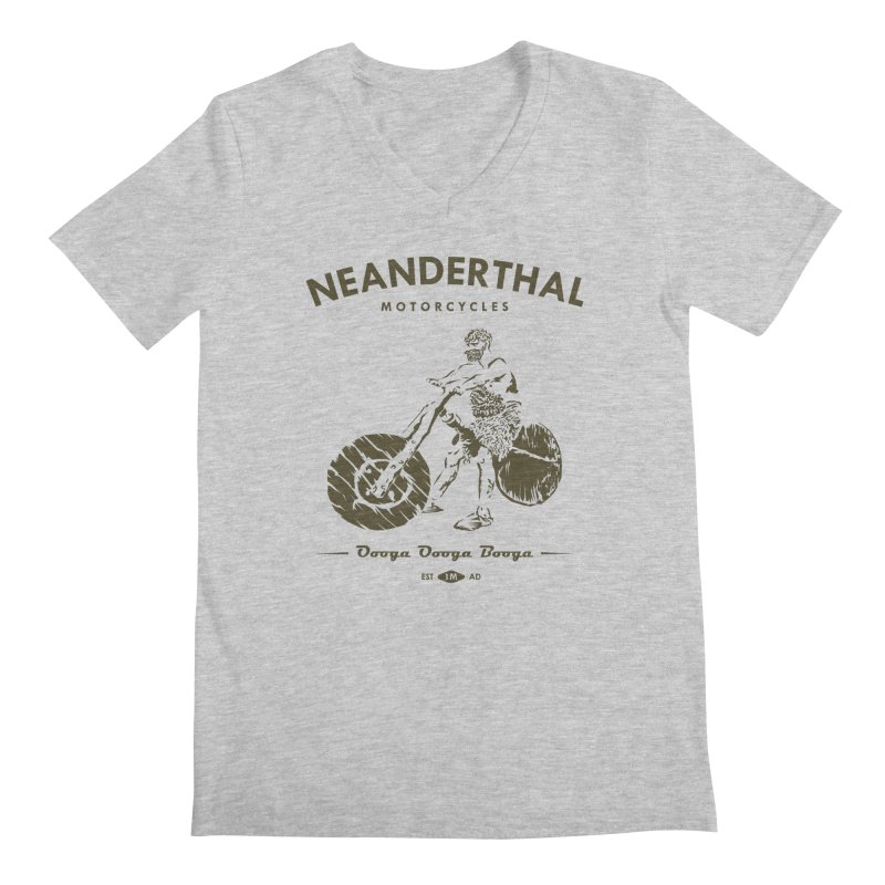 Neanderthal Motors Men's V-Neck by Trybyk Art