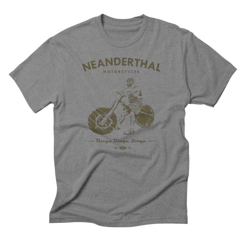 Neanderthal Motors Men's Triblend T-shirt by Trybyk Art