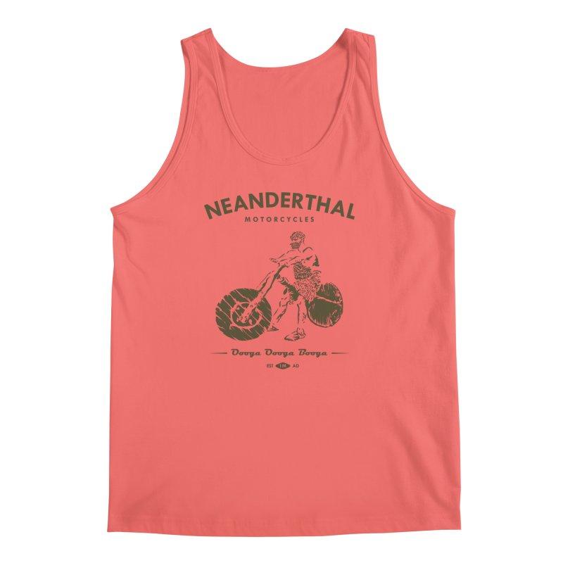 Neanderthal Motors Men's Tank by Trybyk Art