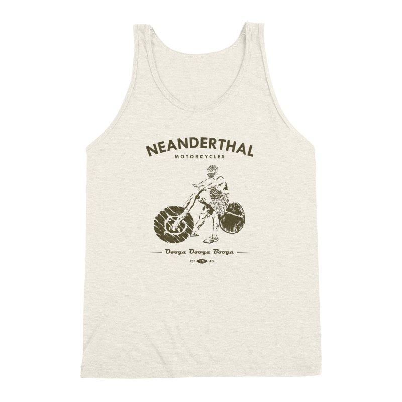 Neanderthal Motors Men's Triblend Tank by Trybyk Art
