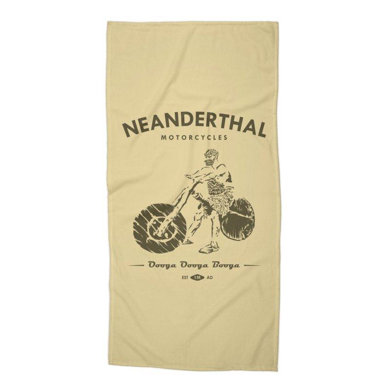 Neanderthal Motors Accessories Beach Towel by Trybyk Art