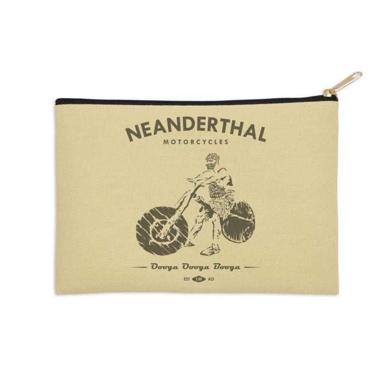 Neanderthal Motors Accessories Zip Pouch by Trybyk Art