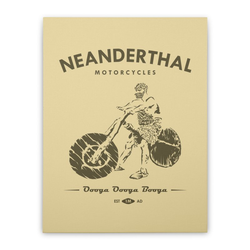 Neanderthal Motors Home Stretched Canvas by Trybyk Art